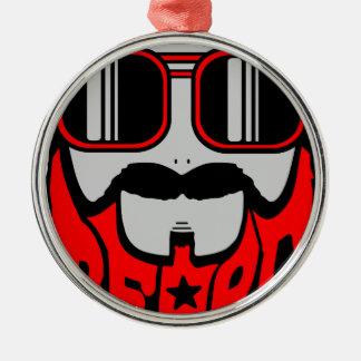 bore red metal ornament