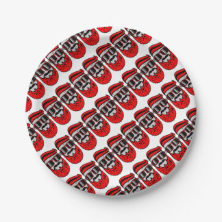 bore red paper plate