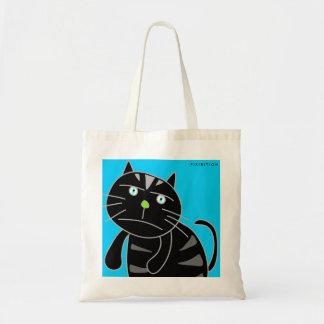 Bored Black Cat Tote Bag
