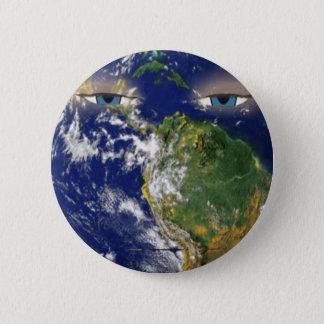 BORED EARTH 6 CM ROUND BADGE