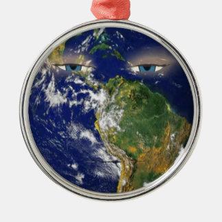 BORED EARTH METAL ORNAMENT