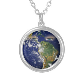 BORED EARTH SILVER PLATED NECKLACE