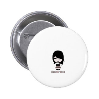 Bored EMO Girl Pinback Buttons