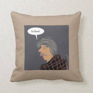 Bored man pillow