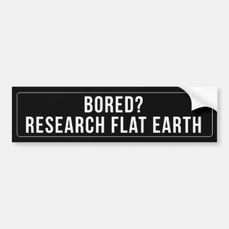 BORED? RESEARCH FLAT EARTH BUMPER STICKER