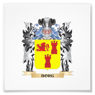 Borg Coat of Arms - Family Crest Photograph