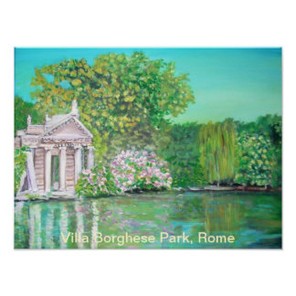 Borghese Park, Rome Poster