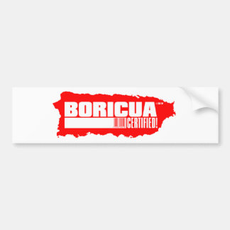 Boricua Certified Bumper Sticker