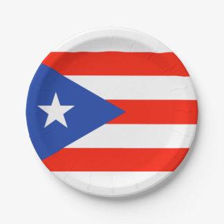 Boricua Fiesta Puerto Rican Bandera 4Teresa Paper Plate