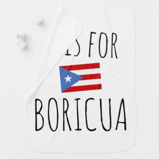 Boricua: Puerto Rico Flag Baby Blanket