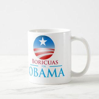 Boricuas for Obama Basic White Mug