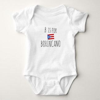 Borincano: Puerto Rican Flag Baby Bodysuit