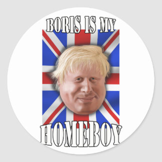 "Boris Johnson, ""Boris is my homeboy"" Mayor Classic Round Sticker"
