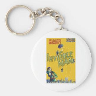 Boris Karloff as The Invisible Man Basic Round Button Key Ring