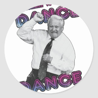 Boris Yeltsin Dance Dance Hot Summer 1996 Classic Round Sticker