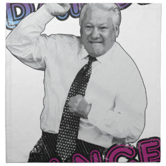 Boris Yeltsin Dance Dance Hot Summer 1996 Napkin