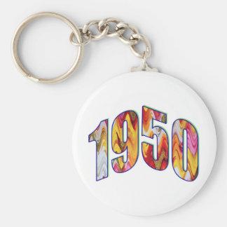Born 1950 basic round button key ring