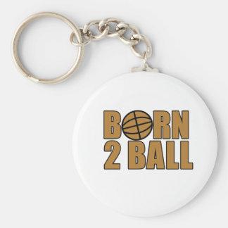 Born 2 Ball Key Chain