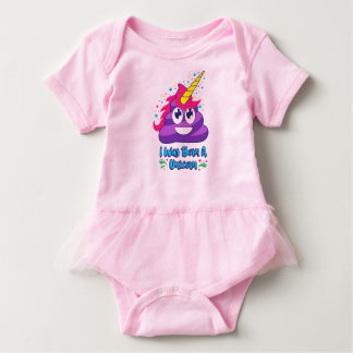 Born A Unicorn Poop Emoji Baby Outfit Baby Bodysuit