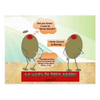 Born Again Olives Postcard