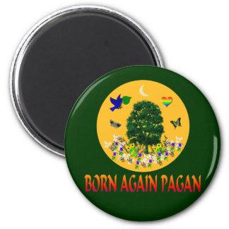Born Again Pagan 6 Cm Round Magnet