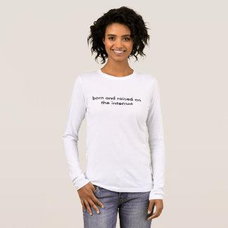 born and raised long sleeve long sleeve T-Shirt