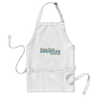 Born-Free American Woman Adult Apron