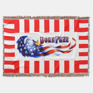 Born Free Bald Eagle And USA Flag