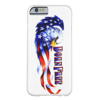 Born Free Bald Eagle And USA Flag Barely There iPhone 6 Case