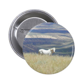 Born Free Wild Mustang Horse 6 Cm Round Badge