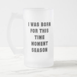 Born Frosted Glass Beer Mug