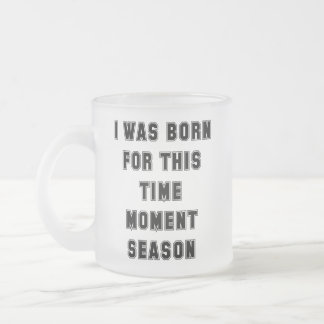 Born Frosted Glass Coffee Mug
