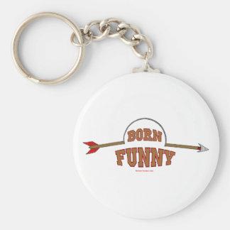 Born Funny Basic Round Button Key Ring
