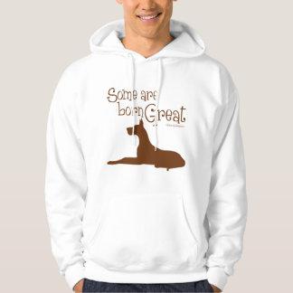 Born Great, brown Hoodie
