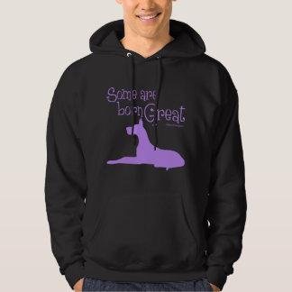Born Great, lavender Hoodie