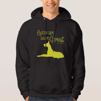 Born Great, yellow Hoodie