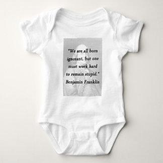 Born Ignorant - Benjamin Franklin Baby Bodysuit