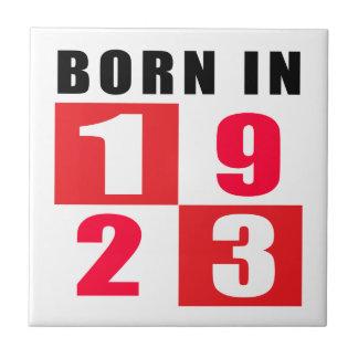 Born In 1923 Birthday Designs Ceramic Tile