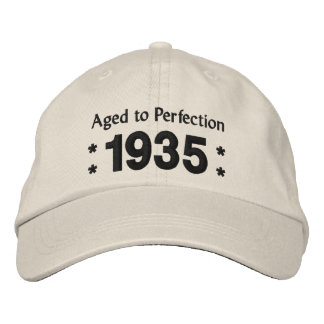 Born in 1935 AGED TO PERFECTION 80th Birthday V2C Embroidered Baseball Cap