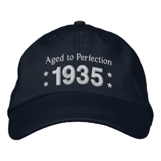 Born in 1935 AGED TO PERFECTION 80th Birthday V2DC Embroidered Baseball Cap