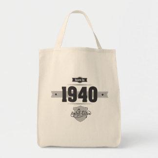 Born in 1940 (Dark&Lightgrey) Tote Bags