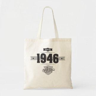Born in 1946 (Dark&Lightgrey) Canvas Bags