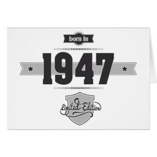 Born in 1947 (Dark&Lightgrey) Card