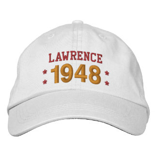 Born in 1948 or Any Year 70th Birthday V09C WHITE Embroidered Hat