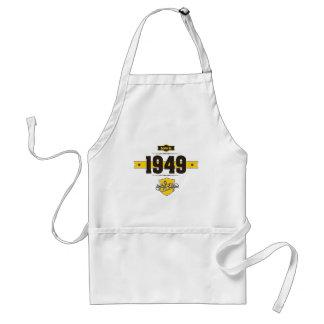 born in 1949 (choco&yellow) standard apron