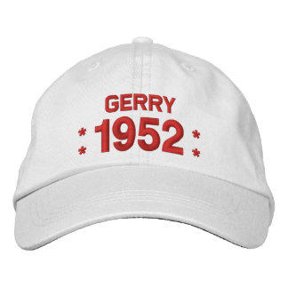 Born in 1952 or Any Year 65th Birthday W03C WHITE Embroidered Baseball Caps