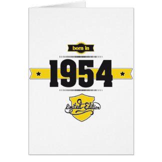 born in 1954 (choco&yellow) card