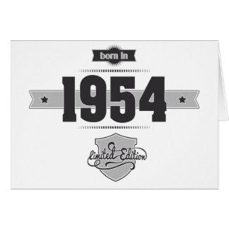 Born in 1954 (Dark&Lightgrey) Card