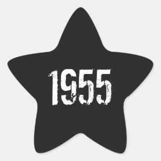 Born in 1955 60th Birthday Stickers Year 1955
