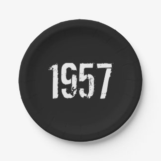 Born in 1957 60th Birthday Year Paper Plate
